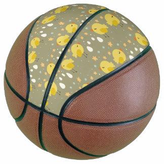 Balón De Baloncesto Polluelos lindos de pascua y pequeño modelo de los