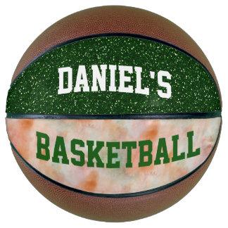 Balón De Baloncesto Purpurina personalizado personalizable del verde