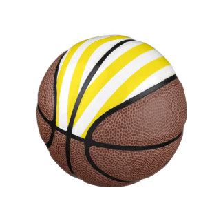 Balón De Baloncesto Rayas amarillas horizontales