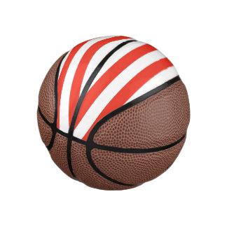 Balón De Baloncesto Rayas rojas horizontales