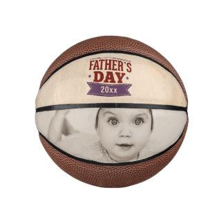 Balón De Baloncesto Regalo personalizado de la foto del día de padres