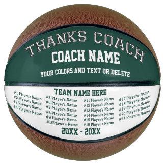 Balón De Baloncesto Todos los jugadores, colores del equipo en los