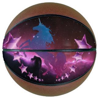 Balón De Baloncesto Unicornio con las estrellas
