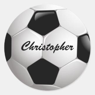 Balón de fútbol adaptable pegatinas redondas