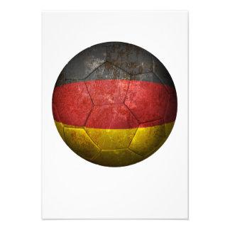Balón de fútbol alemán gastado de fútbol de bander invitacion personal