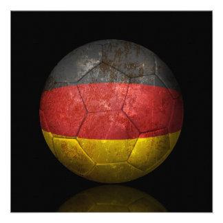 Balón de fútbol alemán gastado de fútbol de bander invitacion personalizada