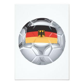 Balón de fútbol alemán invitación 12,7 x 17,8 cm