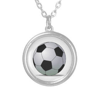 Balón de fútbol americano del fútbol de asociación collar plateado