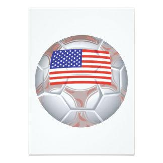 Balón de fútbol americano invitación personalizada