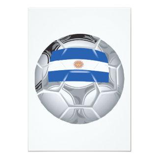 Balón de fútbol argentino invitación 12,7 x 17,8 cm