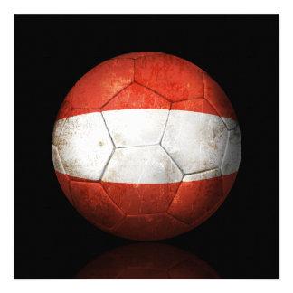 Balón de fútbol austríaco gastado de fútbol de ban comunicado personalizado