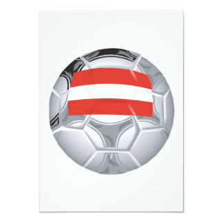 Balón de fútbol austríaco invitación 12,7 x 17,8 cm