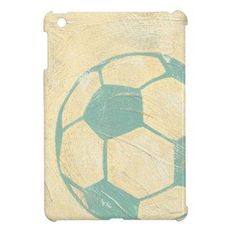 Balón de fútbol azul en colores pastel de