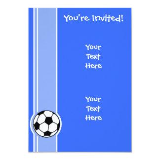 Balón de fútbol; Azul Invitación 12,7 X 17,8 Cm
