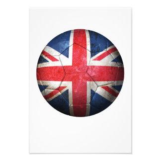 Balón de fútbol británico gastado de fútbol de ban anuncio personalizado