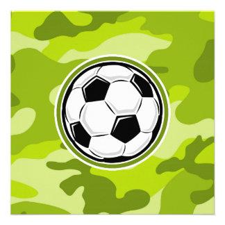 Balón de fútbol camo verde claro camuflaje comunicado personal
