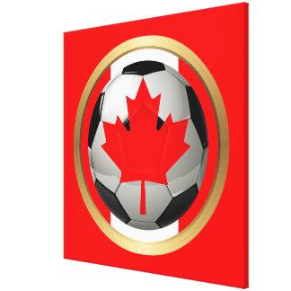 Balón de fútbol canadiense lona estirada galerias