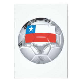 Balón de fútbol chileno invitación 12,7 x 17,8 cm