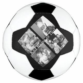 Balón De Fútbol Cree un collage con 4 fotos - negro de Instagram