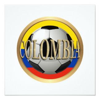 Balón de fútbol de Colombia Invitacion Personalizada