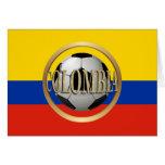 Balón de fútbol de Colombia Tarjeta De Felicitación