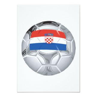 Balón de fútbol de Croation Invitación 12,7 X 17,8 Cm