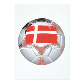 Balón de fútbol de Dinamarca Invitación 12,7 X 17,8 Cm
