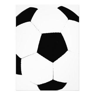 Balón de fútbol de encargo del color comunicado