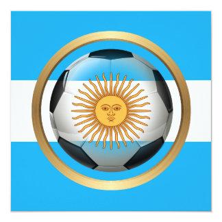 Balón de fútbol de la Argentina Comunicado Personalizado