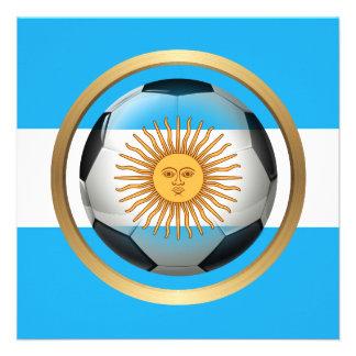 Balón de fútbol de la Argentina