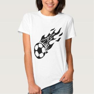 Balón de fútbol de la llama camisetas