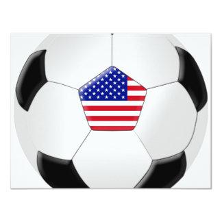 Balón de fútbol de los E.E.U.U. Invitación