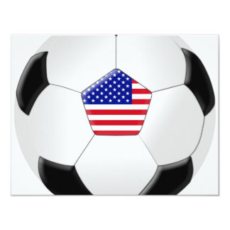 Balón de fútbol de los E.E.U.U. Invitación 10,8 X 13,9 Cm