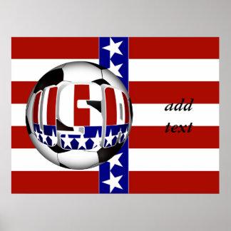 Balón de fútbol de los E.E.U.U. Poster