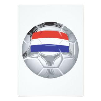 Balón de fútbol de Luxemburgo Invitación 12,7 X 17,8 Cm