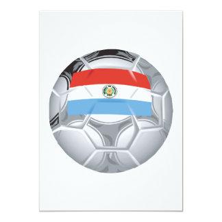 Balón de fútbol de Paraguayian Invitación 12,7 X 17,8 Cm