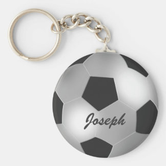 Balón de fútbol de plata adaptable llaveros