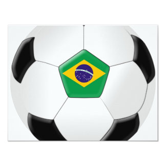 Balón de fútbol del Brasil Invitación 10,8 X 13,9 Cm