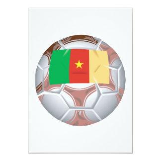 Balón de fútbol del Camerún Invitación 12,7 X 17,8 Cm