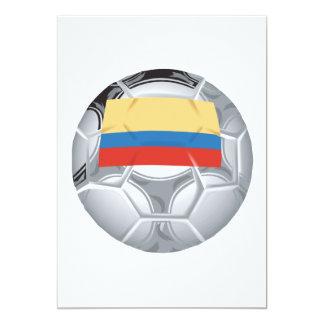 Balón de fútbol del Ecuadorian Invitación 12,7 X 17,8 Cm