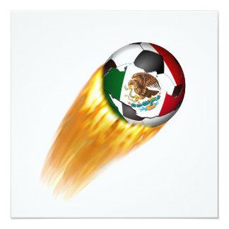 Balón de fútbol el flamear México Invitacion Personalizada