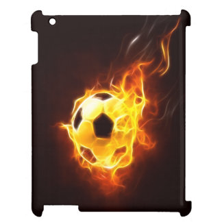 Balón de fútbol encendido