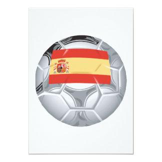 Balón de fútbol español invitación 12,7 x 17,8 cm
