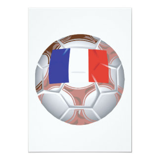 Balón de fútbol francés invitación 12,7 x 17,8 cm