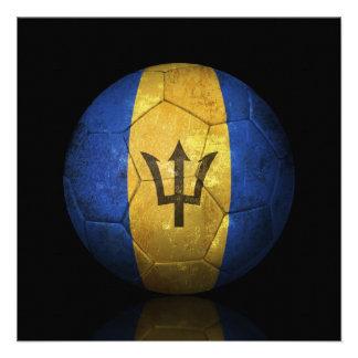 Balón de fútbol gastado de fútbol de bandera de Ba Comunicados Personales