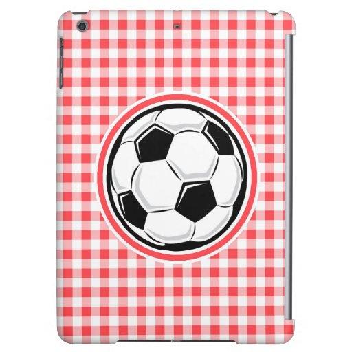 Balón de fútbol; Guinga roja y blanca