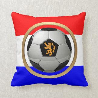 Balón de fútbol holandés con el león holandés cojín decorativo