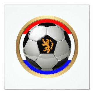 Balón de fútbol holandés con el león holandés comunicados