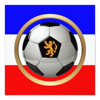Balón de fútbol holandés con el león holandés anuncio