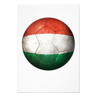 Balón de fútbol húngaro gastado de fútbol de bande anuncio personalizado
